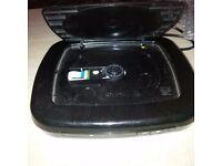 Black compact DVD players