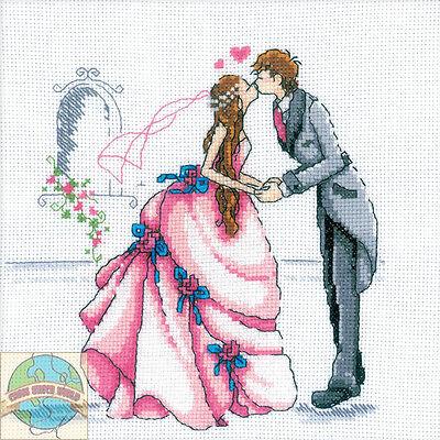 Cross Stitch Kit   Rto Romantic Bride And Groom Wedding First Kiss  M165