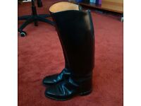"Black leather ""Regent"" riding boots."