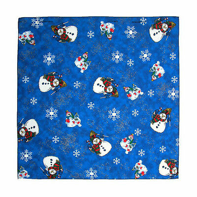 New MTL® Unisex Holiday Christmas Snowmen Bandana USA Made