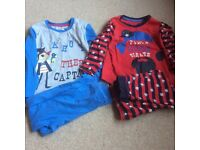 Two pairs of boys pjs age 3-4