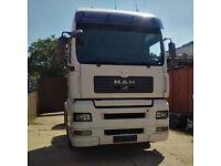 Left hand drive MAN TGA 18.430 4x2 tractor unit.