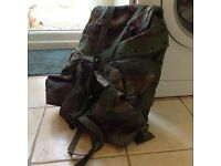 Camouflaged rucksac FREE to collect