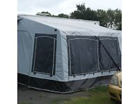 QUEST ALL YEAR ROUND CARAVAN AWNING 1 YEAR OLD, IDEAL FOR SITED CARAVANS