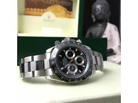 new boxed all silver black face & bezel rolex daytona whatsapp to see all available