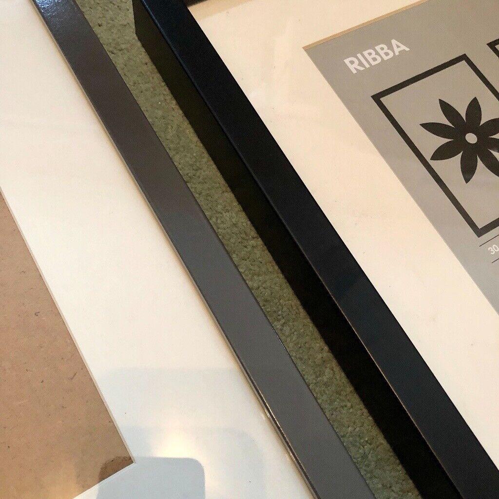 2x IKEA RIBBA Frames - High Gloss Grey - 30x40 and 40x50 cm   in Splott,  Cardiff   Gumtree