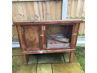 Solid wood Rabbit hutch