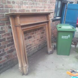 Antique wooden fireplace surround