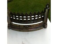 Brass and metal fire grate heavy.