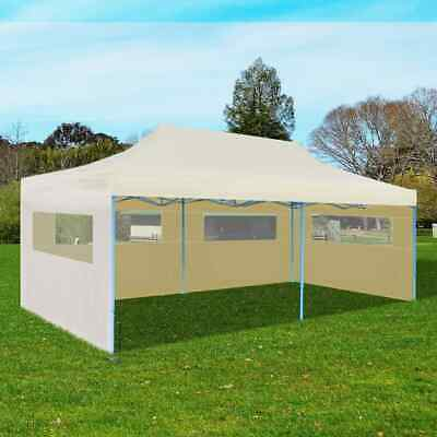 vidaXL Foldable Pop-up Party Tent 3x6m Cream Outdoor Gazebo Marquee Pavilion