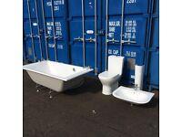 Three piece 'ROCA' suite - acrylic bath with porcelain basin & toilet