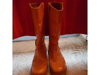 MENS SIZE 9 FRANK WRIGHT LEATHER BOOTS