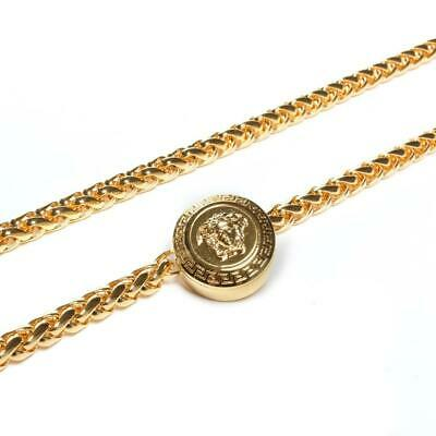 VERSACE Womens Gold Medusa Thin Chain Belt NEW OSFA