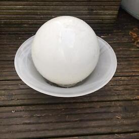 Glass ball & bowl ornament , can put fairy lights inside