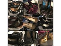 Approx 30 pairs ladies shoes size 7 (2x size 8)