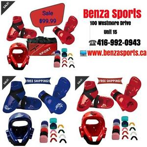 KARATE SPARRING GEAR SET , TAEKWONDO SPARRING GEAR BUNDLE ONLY @ BENZA SPORTS