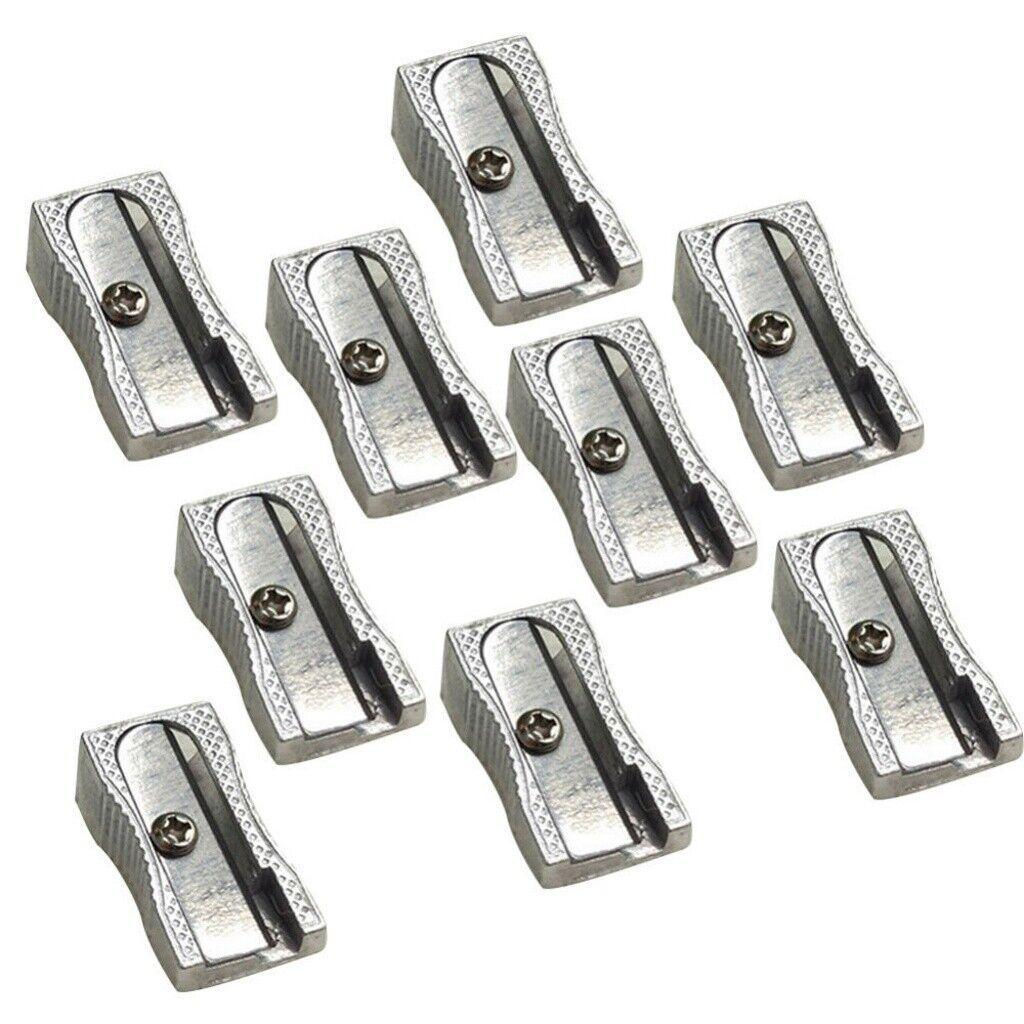 Metal Pencil Sharpener Pack of 2 Dual and Single Hole Sharpeners