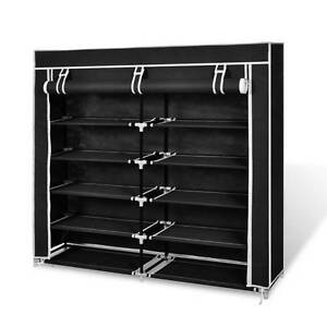 Fabric Shoe Cabinet with Cover 115 x 28 x 110 cm Black 240493 Mount Kuring-gai Hornsby Area Preview