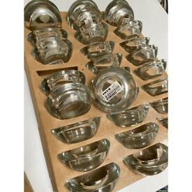 IKEA Glass tea light holders x 30