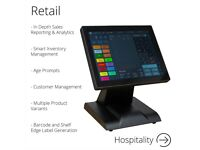 12 Inch Touchscreen EPOS POS Cash Register Till System for Retail, Hospitality, Takeaway and Salon