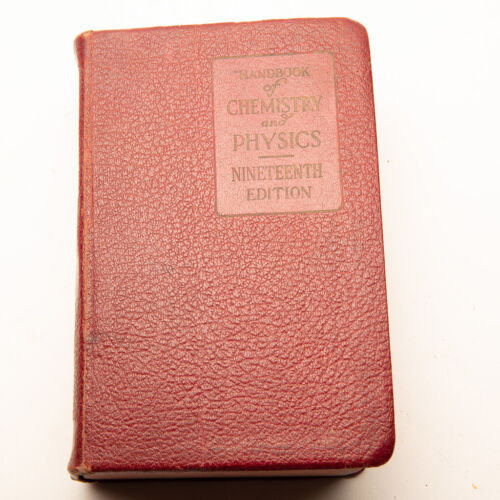Vtg 1934 Handbook Of Chemistry And Physics Nineteenth Edition Chemical Rubber Co
