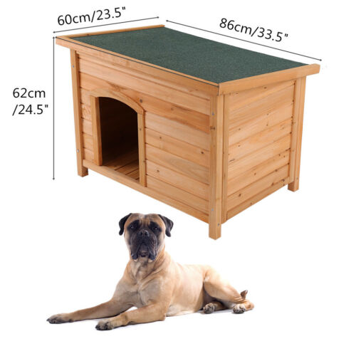 Wooden Dog House Large Dog Big Pet Doghouse Kennel Indoor Outdoor Waterproof SB