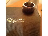 Clogau cariard size r ring silver gold
