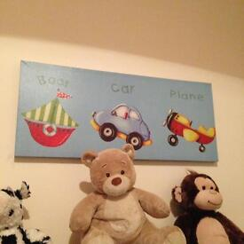 Kids wall canvas