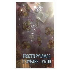 2-3 years frozen pyjamas set