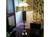 Standard lamp old with claw feet