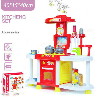New Kids Pretend Cooking Playset Kitchen Toy Cookware Play Set Toddler Gift Mini