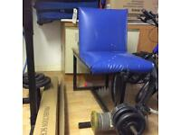 Customise free weights leg extensions curl machine