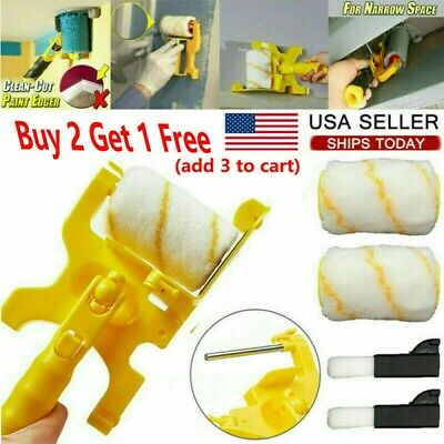 Clean-Cut Paint Edger Roller Brush Safe Tool for Home Room Wall Ceiling Brush