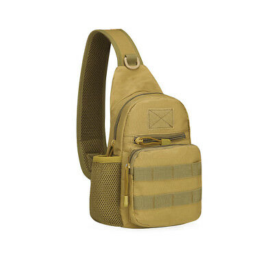 Brown Waterproof Men Tactical Military Messenger Shoulder Bag Sling Chest Bag