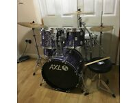 Fully Refurbished AXL Rock Sized Drum Kit - Purple Oyster Wrap ~Free Local Delivery~