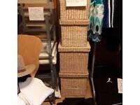 Large and medium wicker storage
