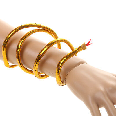 Cleopatra Egyptian Queen Gold Asp Snake Arm Bracelet Bangle Fancy (Snake Arm Kostüm)