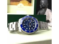 new boxed blue face silver strap rolex submariner whatsapp to see all available