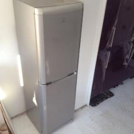 Indesit dark silver grey 50/50 fridge freezer excellent clean condition