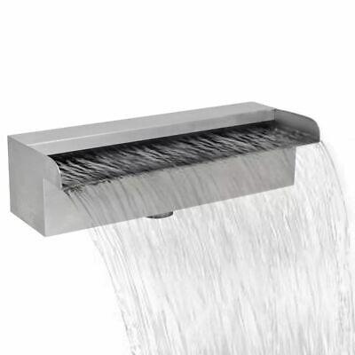 Rectangular Waterfall Pool Fountain Stainless Steel 30 cm