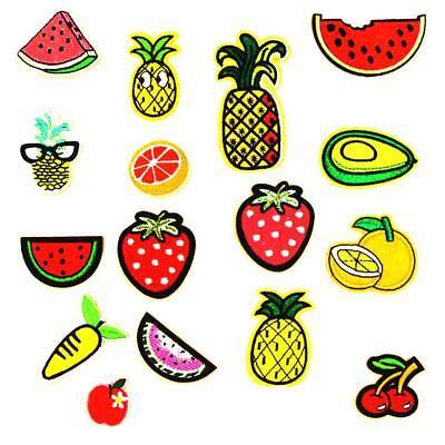 16pcs Toppe Cucire Patch in Frutta Forma per Zaini Vestiti Bambini Cappello