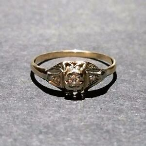 10K Two-Tone Diamond Ring