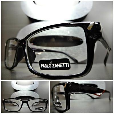 Herren Damen Moderne Moderner Stil Klarglas Brillen Schwarz Brillengestell