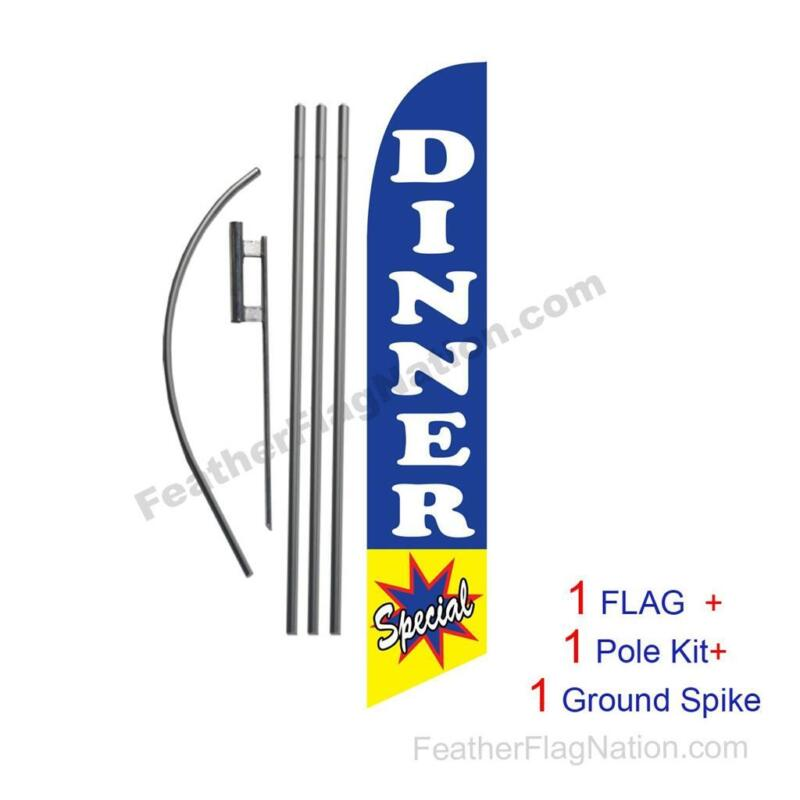 Dinner Special Feather Banner Swooper Flag Kit with pole+spike