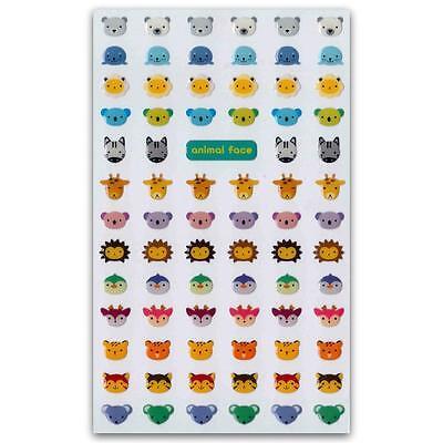 ✰ Süß Winzige Tier Gesicht Gel Sticker Aufkleber Blatt Neu Koalabär Vogel Siegel