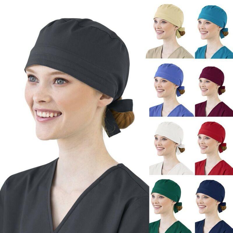 PRETYZOOM Unisex Scrub Cap Hat Adjustable Scrub Cap Cartoon Printed Bouffant Scrub Cap Surgical Breathable Doctor Turban Cap Nurse Hat Doctor Cap Surgery Hat 1PCS