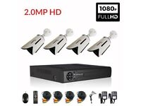 4CH Full HD CCTV 1080N DVR with 4 x 2MP 1080P Outdoor Cameras Security Kit