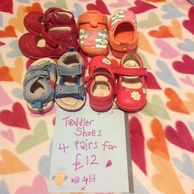 Girls Bundle of shoes size 3-4s 🌟❤️