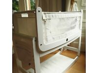 Snuzpod Baby Crib White - immaculate condition