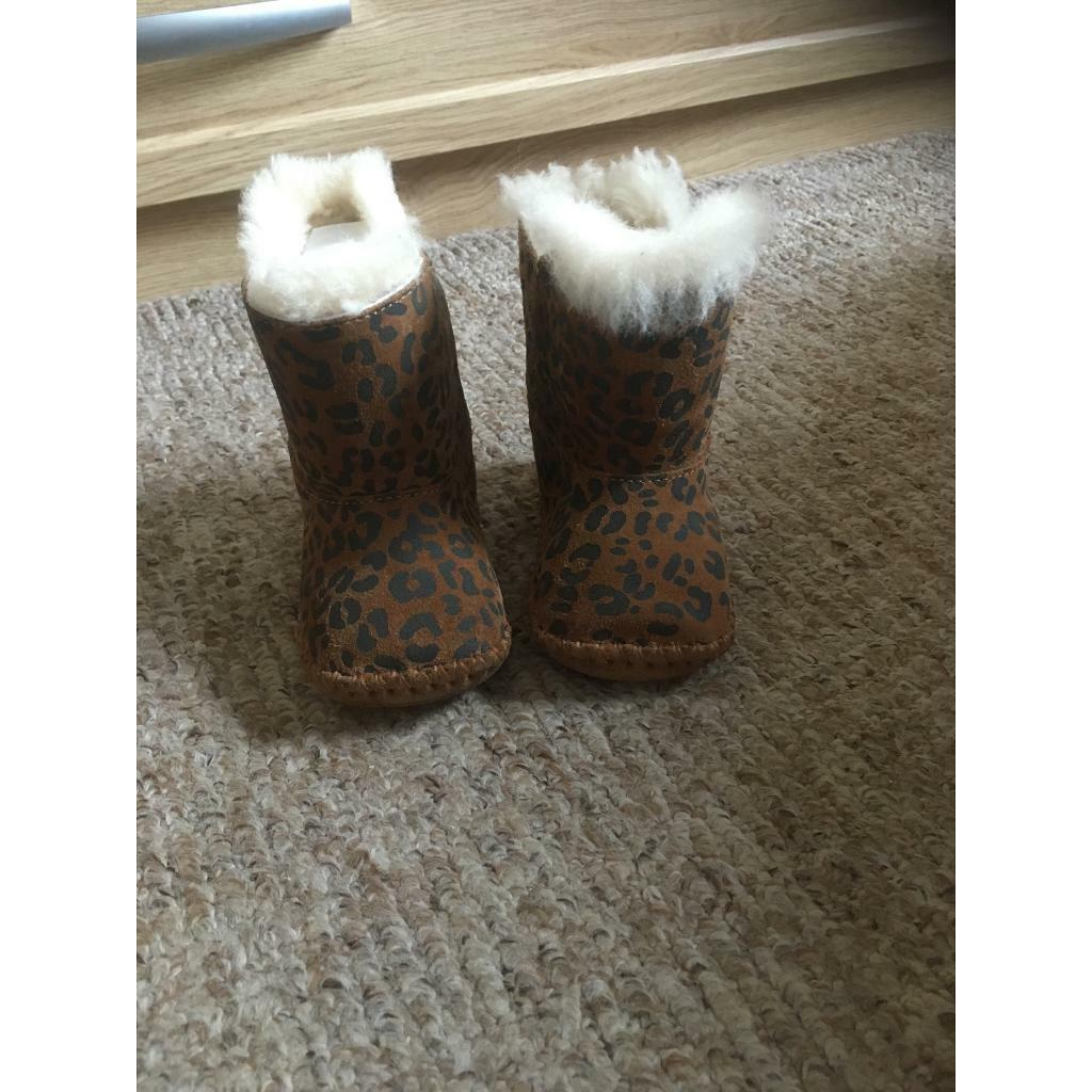 2e1ae37f00e Baby size 2/3 small leopard print UGG boots | in Southside, Glasgow |  Gumtree